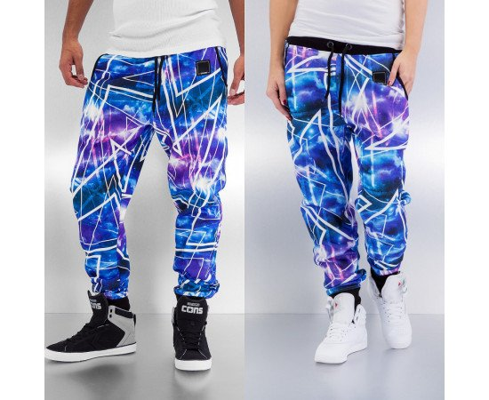Tepláky Dangerous DNGRS Galaxy II Sweat Pants Blue/purple