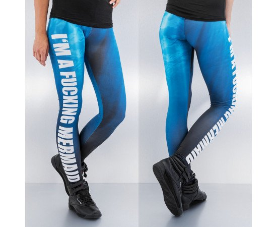 Dámske legíny Just Rhyse Mermaid Leggings Blue