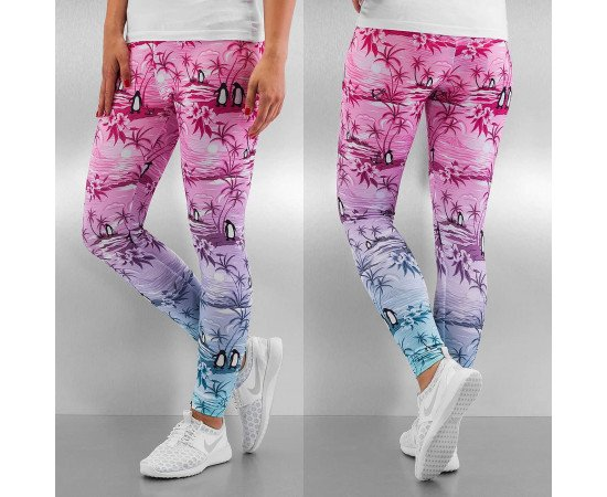Legíny Just Rhyse Penguin Leggings Pink Blue White