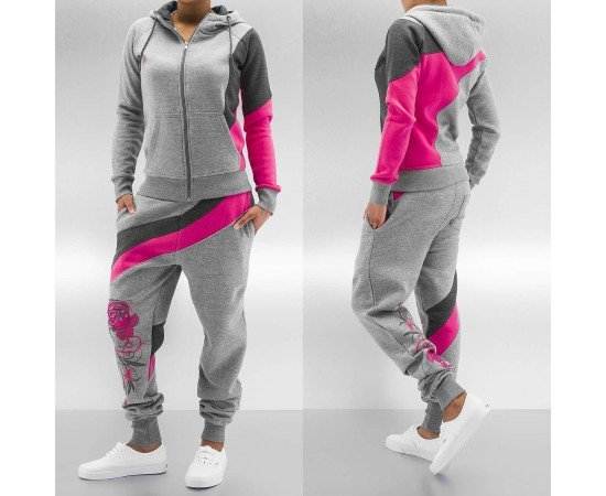 Just Rhyse Roses Suit Grey/Pink