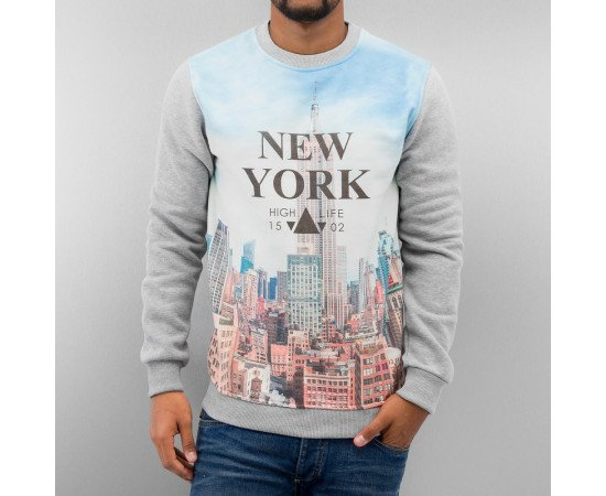 Mikina Just Rhyse New York Sweatshirt Grey