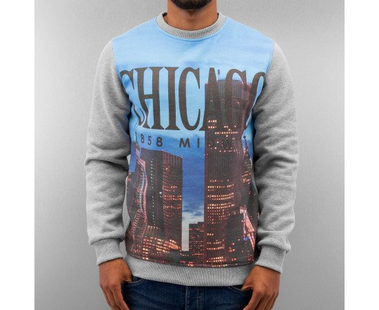 Mikina Just Rhyse Chicago Sweatshirt Grey
