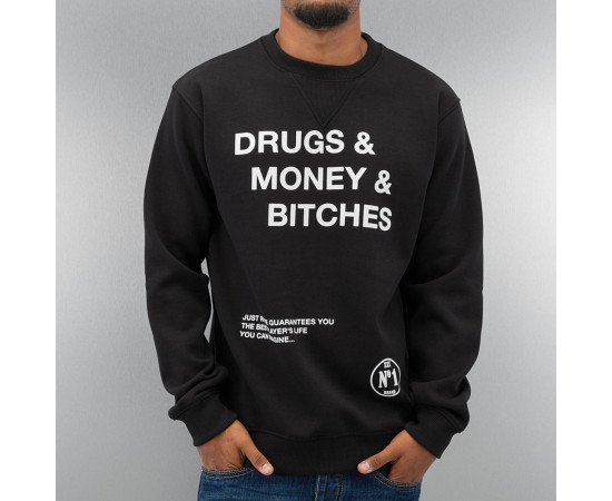 Mikina Just Rhyse Drugs Sweatshirt Black