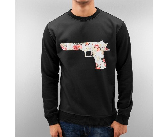 Pánska mikina Just Rhyse Flower Gun Sweatshirt Black