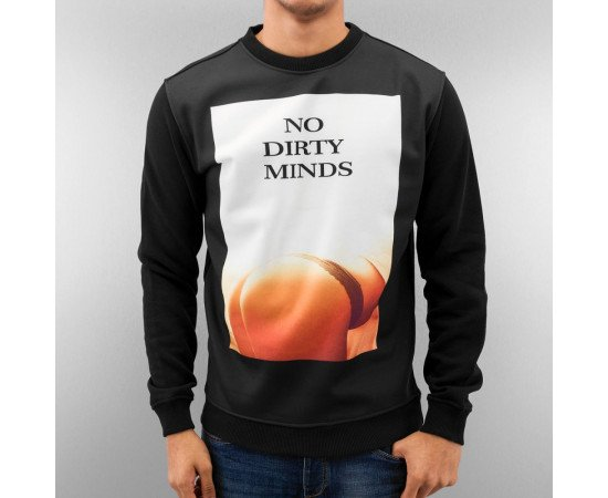 Mikina Just Rhyse No Dirty Minds Sweatshirt Black