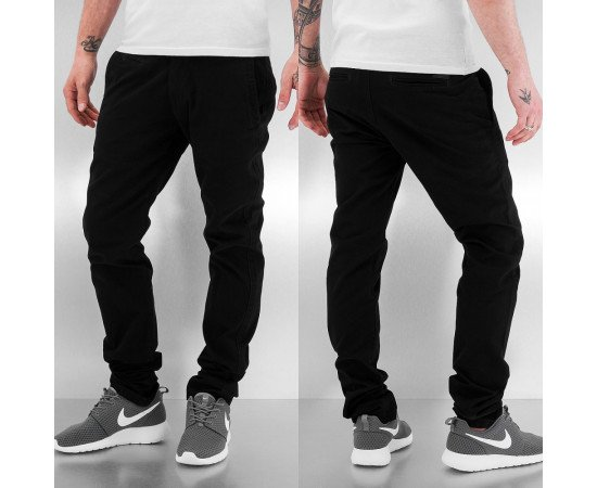 JUST RHYSE NEW BASIC CHINO PANTS BLACK