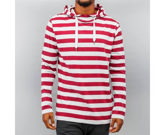 Pánska mikina Just Rhyse Stripes Hoody White/red