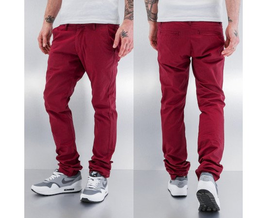 Nohavice Just Rhyse And Friends Basic Chino Pants Bordeau