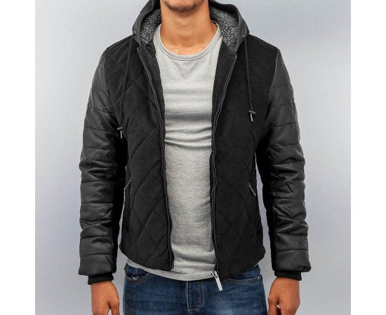 Bunda Just Rhyse Quilted Winter Jacket Black