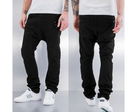 Just Rhyse Three Stars Antifit Jeans Black