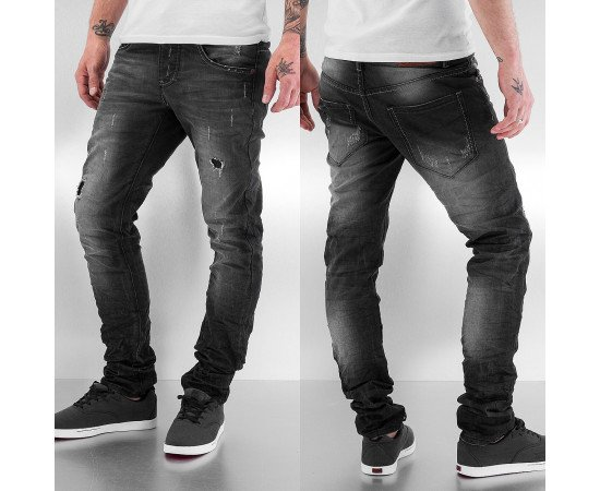 Nohavice Just Rhyse Shiono Skinny Dark Grey