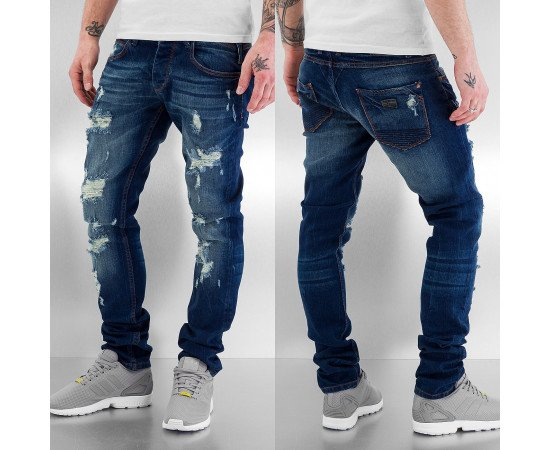 Nohavice Just Rhyse Destroyed Straight Fit Jeans Blue