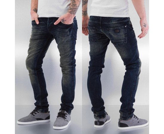 Rifle Just Rhyse Application Skinny Fit Jeans Blue
