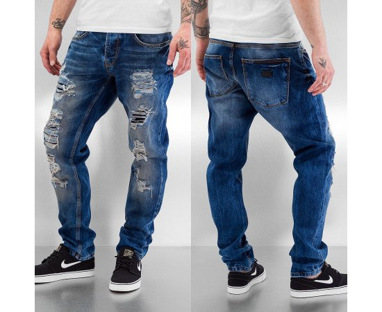 Rifle Just Rhyse Destroyed Carrot Jeans Blue