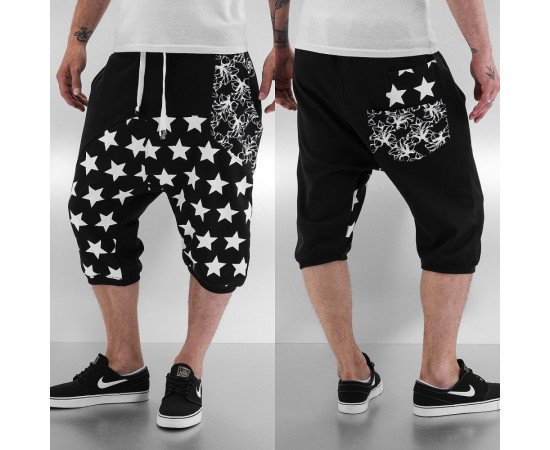 JUST RHYSE STAR SHORTS BLACK