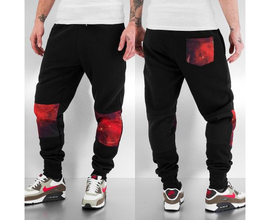 Just Rhyse Mesh Sweat Pants Black