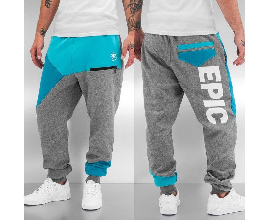 Tepláky Just Rhyse Epic Sweat Pants Grey Turquoise