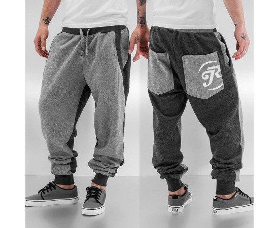 Just Rhyse Bones Sweat Pants Grey/Black