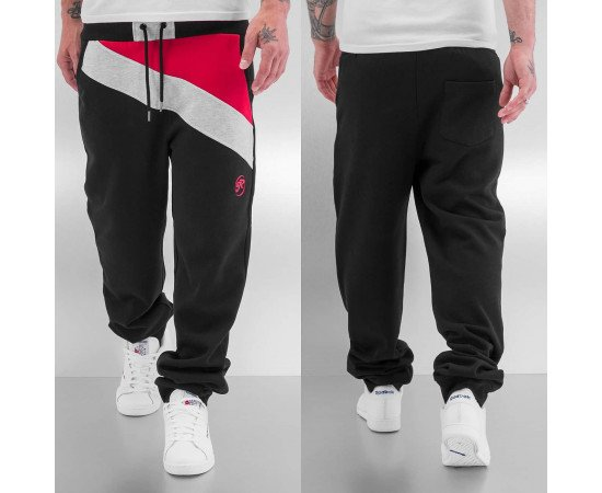 Tepláky Just Rhyse Diagonal Sweat Pants Black/Red