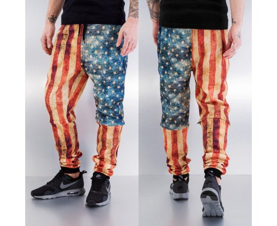 Tepláky Just Rhyse Dirty Flag Sweat Pants Multicolor