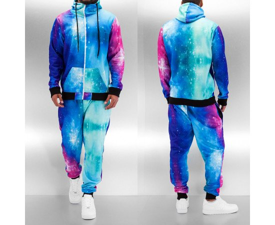 Mikina Just Rhyse Infinitely II Sweat Suit Blue Galaxy