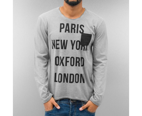 Tričko Just Rhyse Paris Longsleeve GreyTričko Just Rhyse Paris Longsleeve Grey