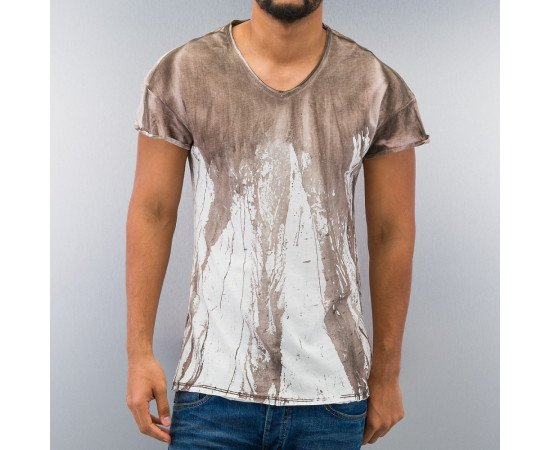 JUST RHYSE DYED T-SHIRT BROWN