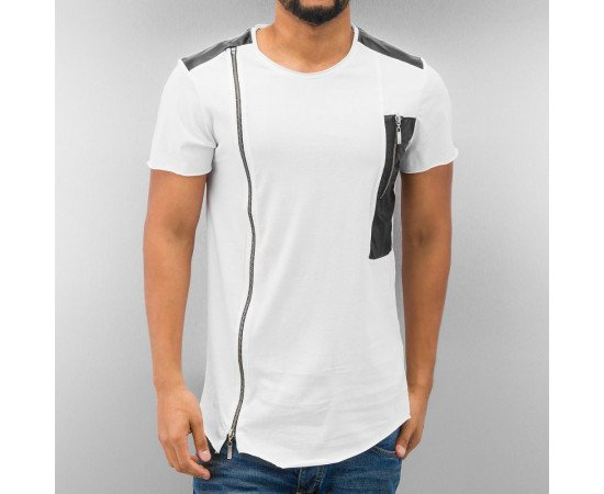 JUST RHYSE ZIPPER T-SHIRT WHITE