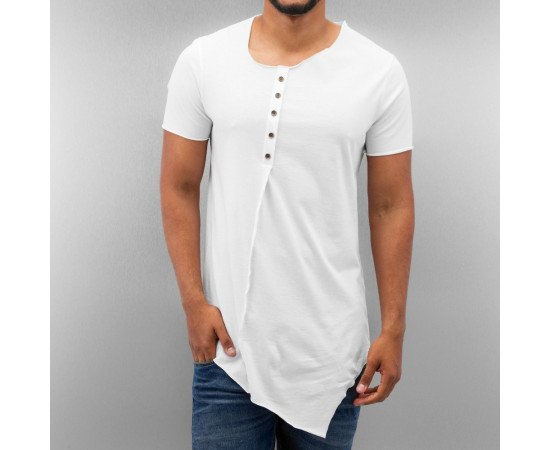 TRIČKO JUST RHYSE BUTTON T-SHIRT WHITE