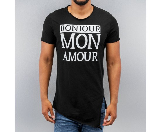 Tričko Just Rhyse Bonjour T-Shirt Black