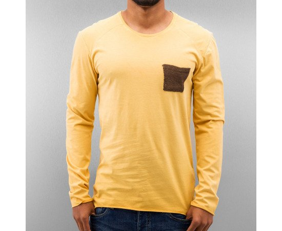 Tričko Just Rhyse Breast Pocket Longsleeve Yellow