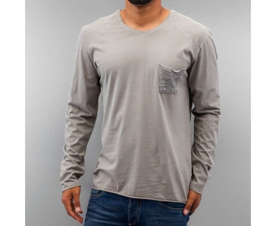 Tričko Just Rhyse Breast Pocket Longsleeve Grey