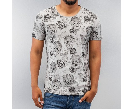 Just Rhyse Skull T-Shirt Grey
