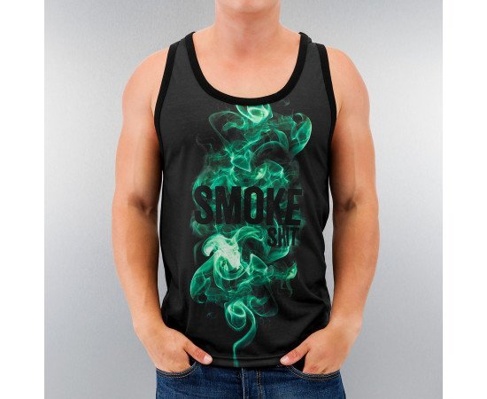 Tričko Just Rhyse Smoke Shit Tank Top Black