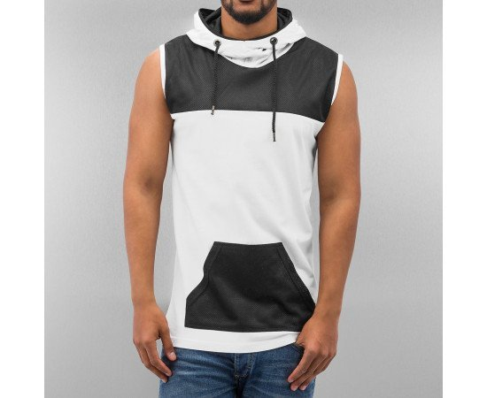 JUST RHYSE MESH TANK TOP WHITE
