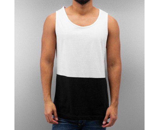 Tričko Just Rhyse 2 Tone Tank Top Black White
