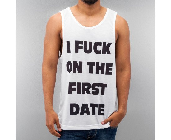 Tričko Just Rhyse Fuck Tank Top White