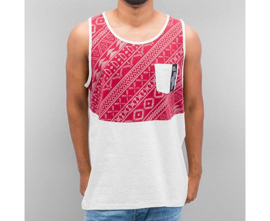 Tielko Just Rhyse Pattern Tank Top Burgundy/Grey