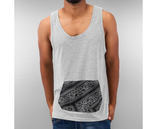 Tričko Just Rhyse Bandana Tank Top Grey Melange