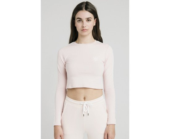 SIKSILK LONG SLEEVE CROP TOP