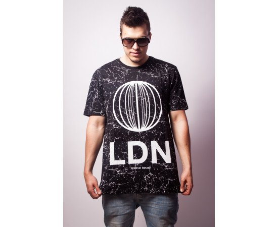 Tričko Criminal Damage Tee LDN Tee Black