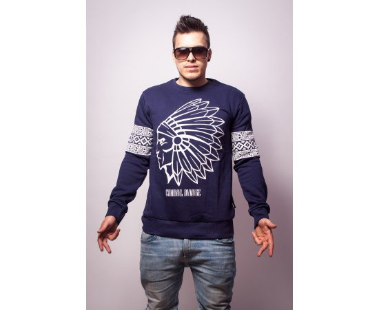 Mikina Criminal Damage Tomahawk Sweater Navy