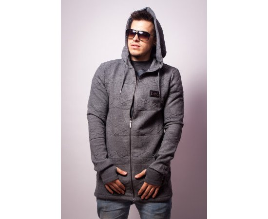 Mikina Criminal Damage Hoodie Mount Hood Grey