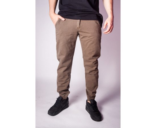 Nohavice Backyard Cartel Jogger Fit Khaki