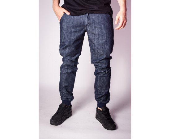 Nohavice Y Backyard Cartel Spodnie Jogger Fit Band Navy