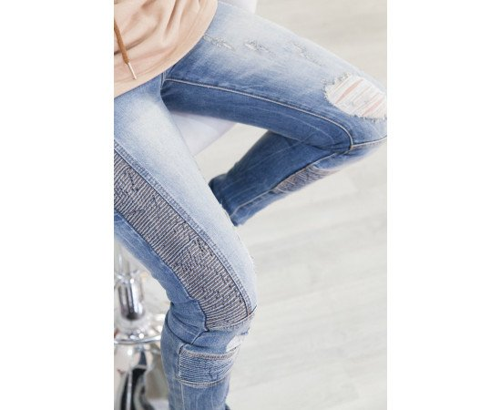 Jeans Sixth June Biker Blue Realphotonhs