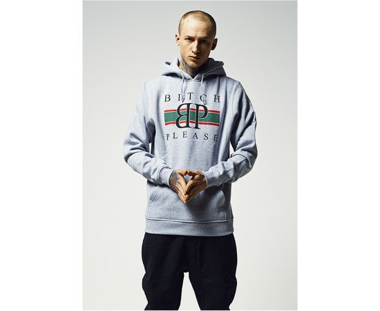 Mikina Mister Tee Bitch Please Hoody H.grey