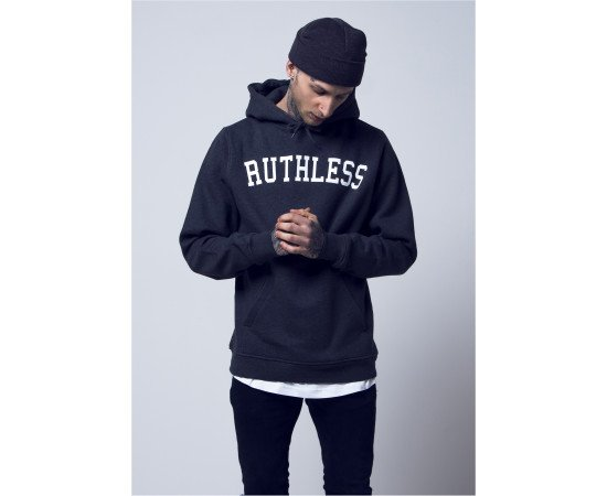 Mikina Mister Tee Ruthless Hoody Charcoal