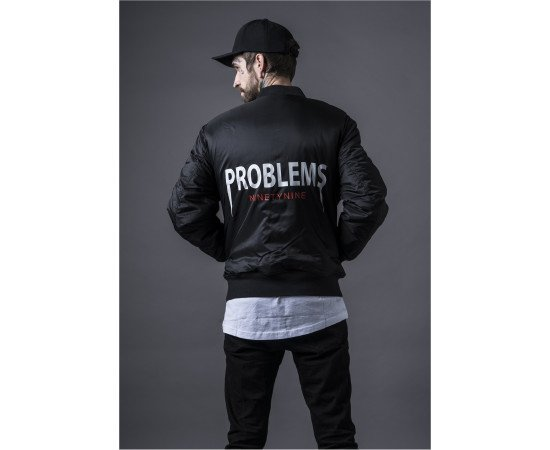 Bombera Mister Tee 99 Problems Jacket Black