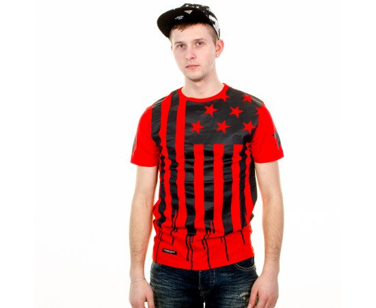 Tričko Cayler & Sons BLLB V$A Tee Red Black